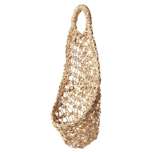 BOTANISK hanging storage banana fibre handmade 16 cm 34 cm