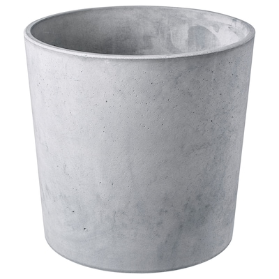 BOYSENBÄR Plant pot, in/outdoor light grey, 24 cm