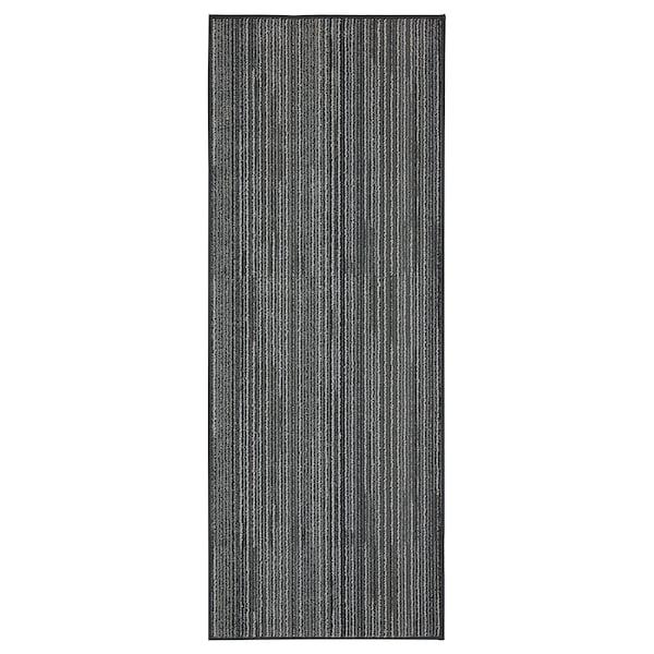 BRATBJERG Kitchen mat, grey/white, 45x120 cm