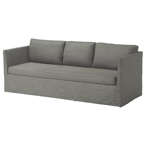 BRÅTHULT 3-seat sofa Borred grey-green 212 cm 78 cm 69 cm 70 cm 33 cm
