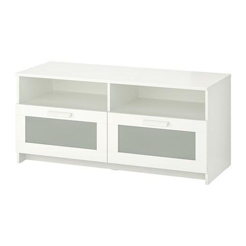 Hidden Tv Meubel.Brimnes Tv Bench White Ikea