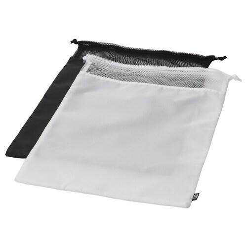 BRODERLIG laundry bag black/white 34 cm 50 cm 2 kg 2 pack