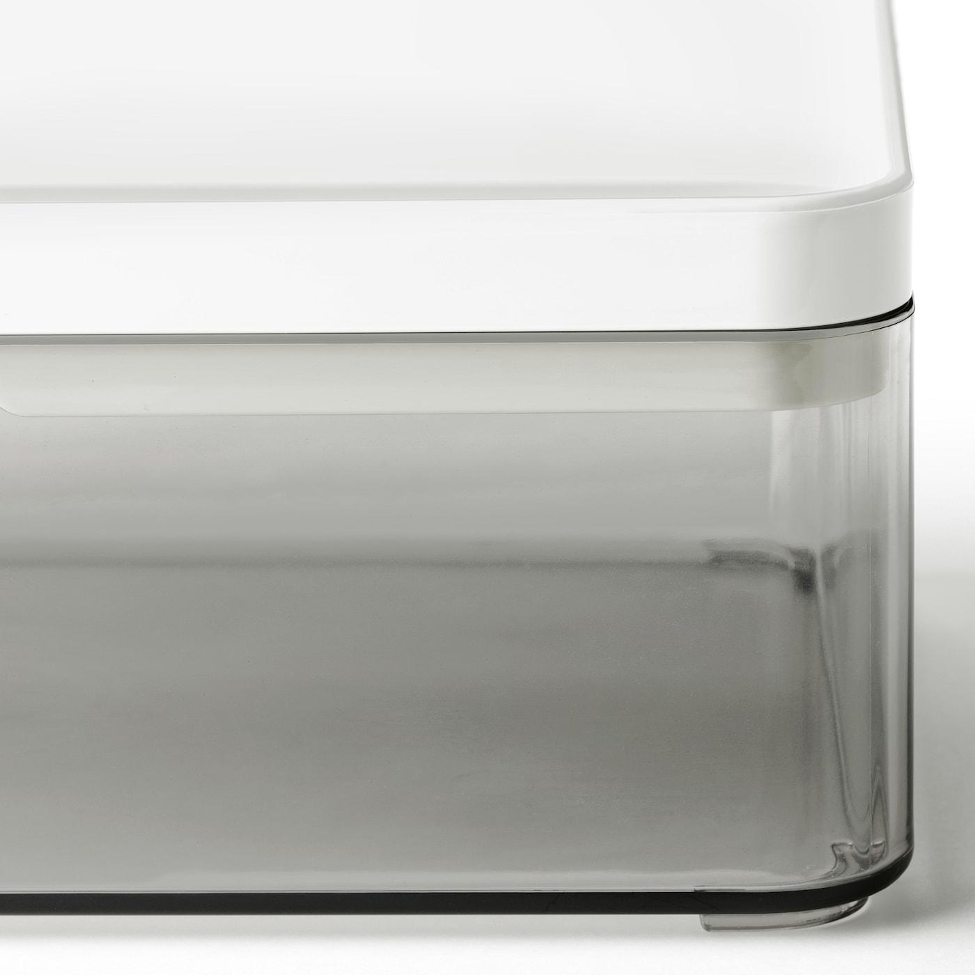 BROGRUND Box, transparent grey/white