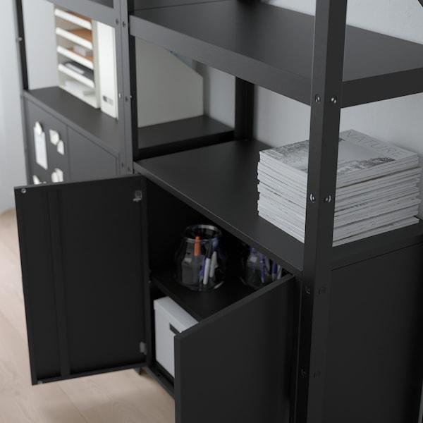 BROR 2 sections/shelves/cabinet black 170 cm 40 cm 190 cm