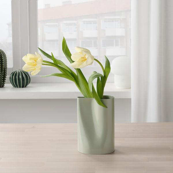 CHILIFRUKT Vase/watering can, light green, 17 cm