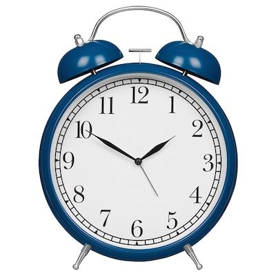 DEGADE Alarm clock, blue, 21 cm