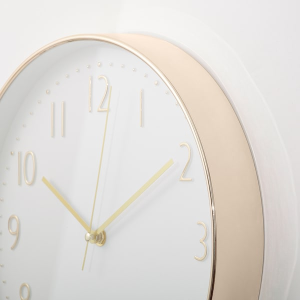 DILLADE Wall clock, gold-colour, 30 cm