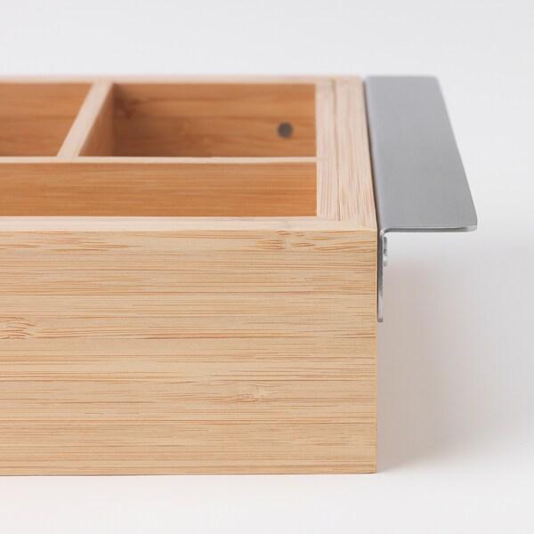DRAGAN Extendable box, bamboo, 35-51x21 cm