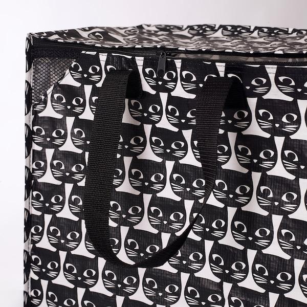 DRICKSA Bag, white/black, 47 l