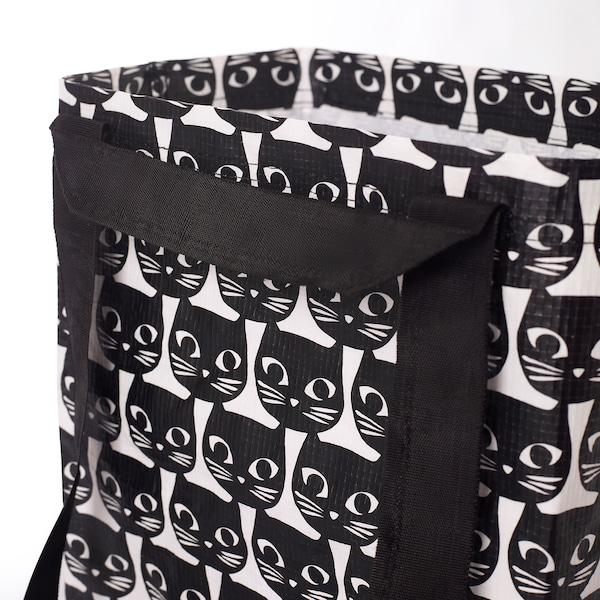 DRICKSA Bag, white/black, 27x27 cm