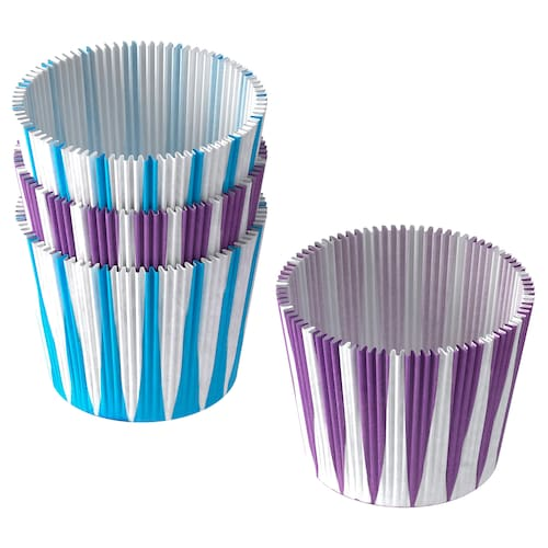 DRÖMMAR baking cup blue/lilac 4 cm 4 cm 65 pack