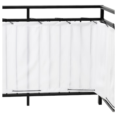 DYNING Balcony privacy screen, white, 250x80 cm
