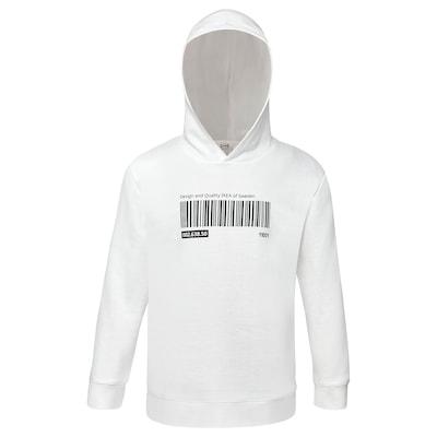 EFTERTRÄDA Hoodie, white, 98/110