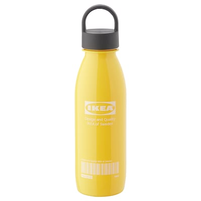 EFTERTRÄDA Water bottle, yellow