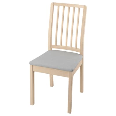 EKEDALEN Chair, birch/Orrsta light grey