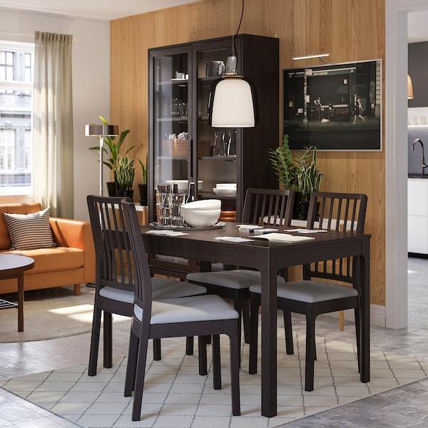 EKEDALEN Chair, dark brown/Orrsta light grey