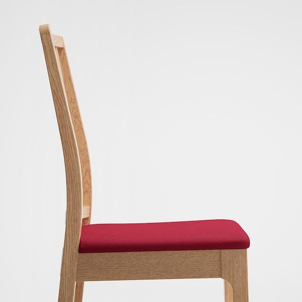 EKEDALEN Chair, oak/Orrsta red