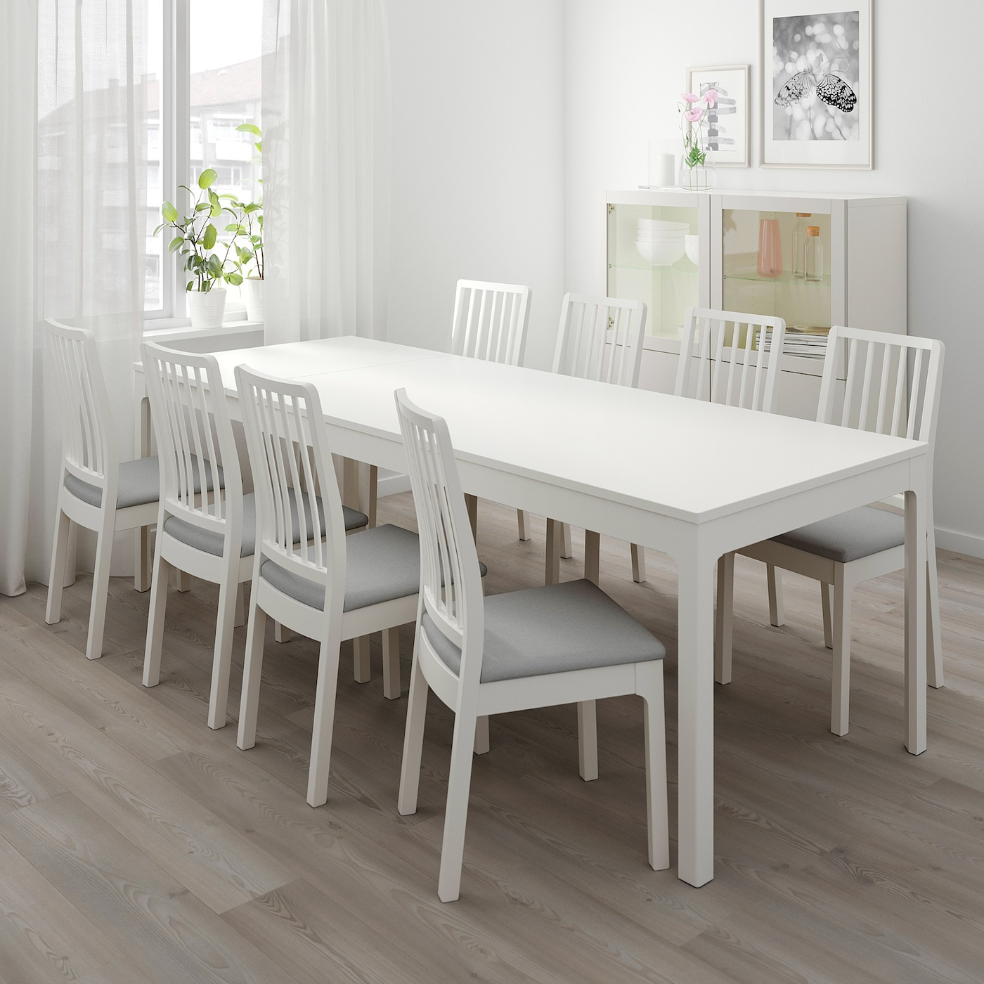 Picture of: Ekedalen Extendable Table White Ikea