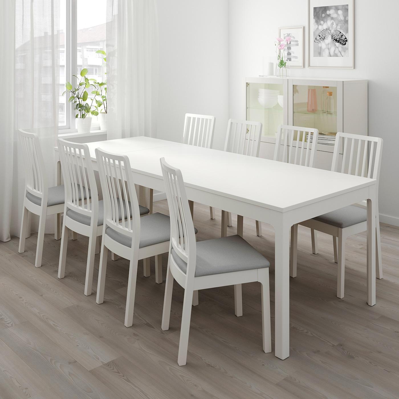 Ekedalen Extendable Table White 180 240x90 Cm Ikea