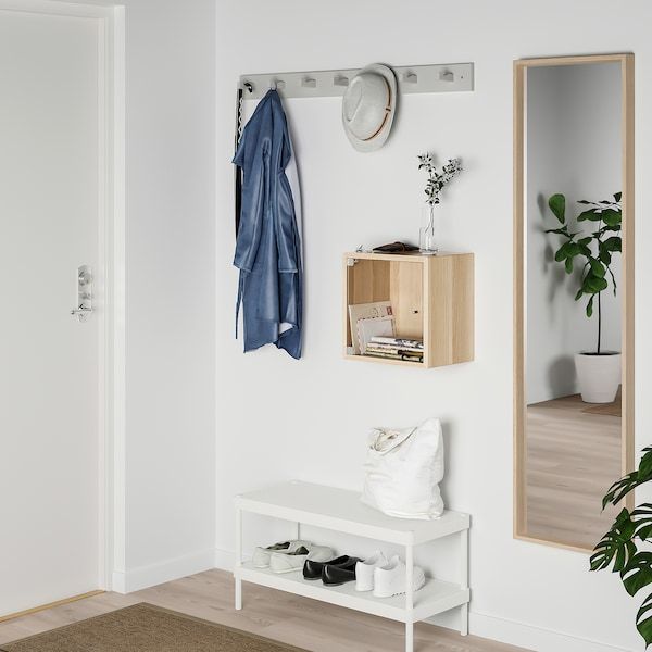 Eket Wall Cabinet With Glass Door White Stained Oak Effect Ikea