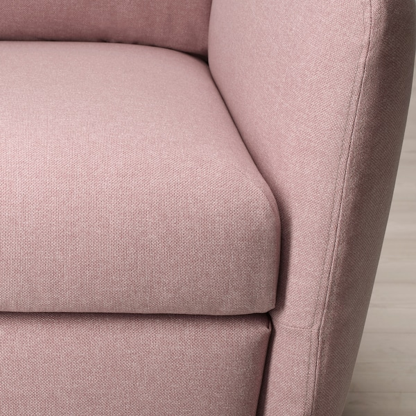 EKOLSUND Recliner, Gunnared light brown-pink