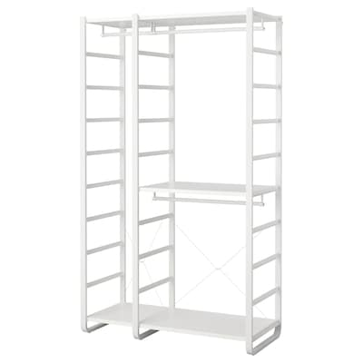 ELVARLI 2 sections, white, 125x55x216 cm