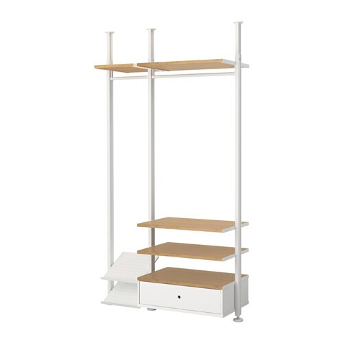ELVARLI 2 sections, white, bamboo