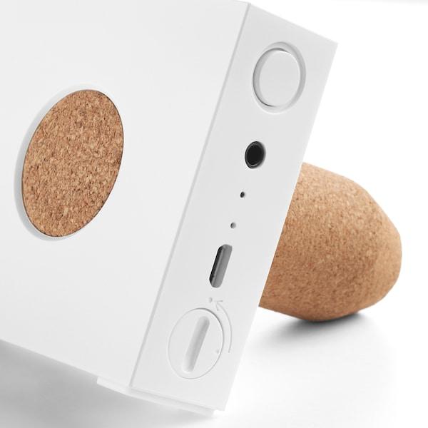 ENEBY Portable bluetooth speaker, white, 15x7.5 cm