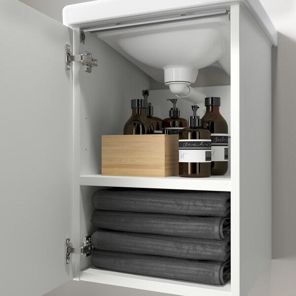 ENHET / TVÄLLEN Wash-basin cabinet with 1 door, white/Pilkån tap, 44x43x65 cm
