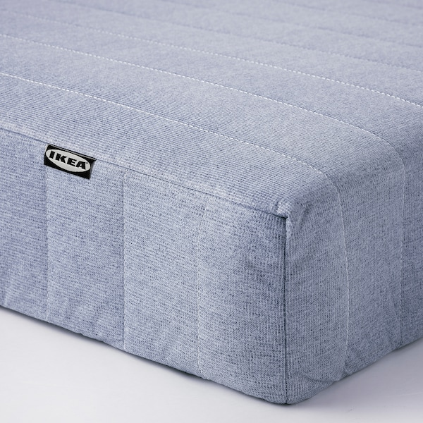ESPEVÄR/VADSÖ Divan bed, white/extra firm light blue, 140x200 cm