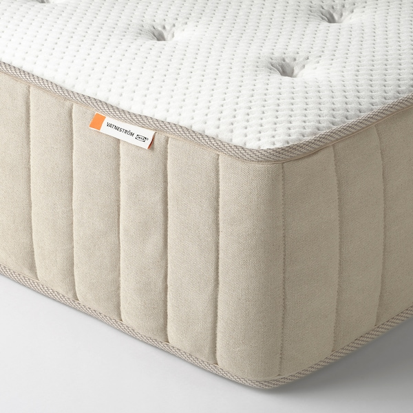 ESPEVÄR/VATNESTRÖM Divan bed, white/extra firm natural, 140x200 cm