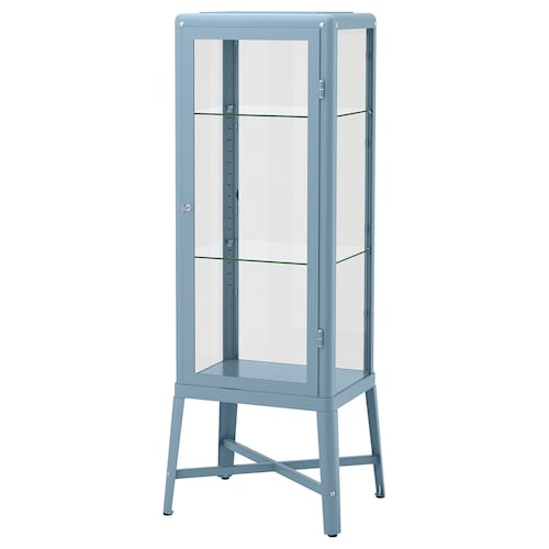 FABRIKÖR glass-door cabinet blue 57 cm 47 cm 150 cm 10 kg