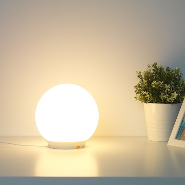 FADO Table lamp, white, 17 cm