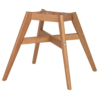 FANBYN Chair frame, brown wood effect