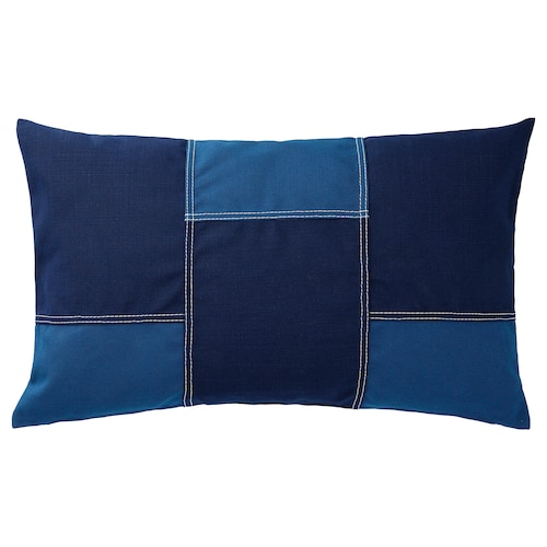 FESTHOLMEN cushion cover, in/outdoor blue/dark blue 40 cm 65 cm