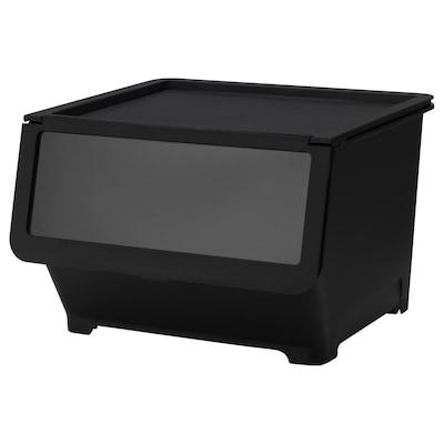 FIRRA Box with lid, black, 44.5x42x31 cm