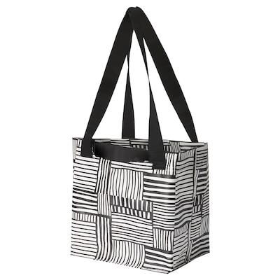 FISSLA Bag, white/black, 27x27 cm