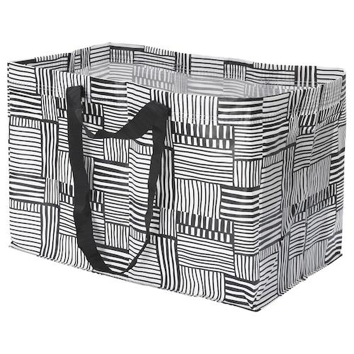 FISSLA carrier bag, large white/black 55 cm 35 cm 37 cm 71 l