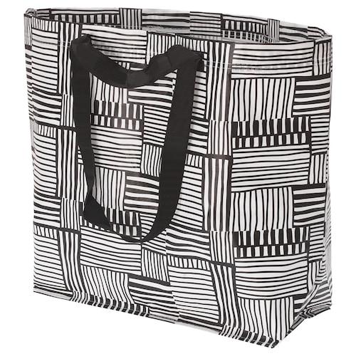 FISSLA carrier bag, medium white/black 45 cm 18 cm 45 cm 36 l