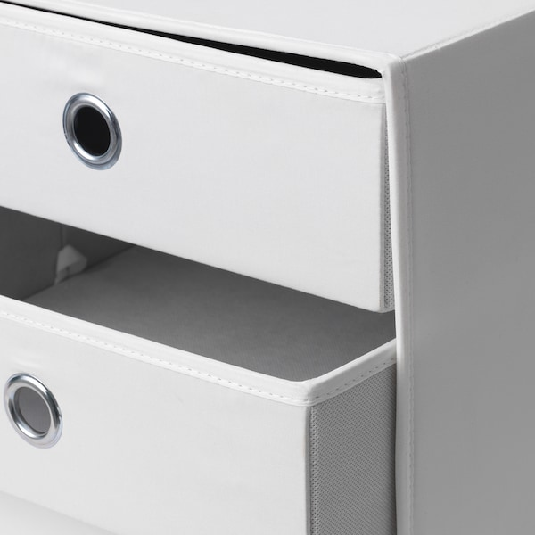 FLARRA Mini chest with 3 drawers, white, 33x38 cm