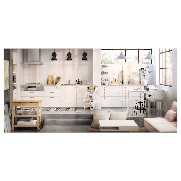 FÖRHÖJA Kitchen trolley, birch, 100x43 cm
