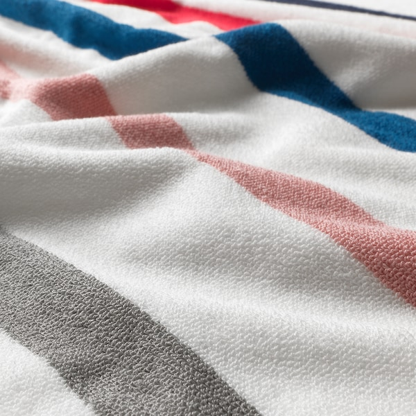 FOSKÅN Hand towel, white/multicolour, 40x70 cm