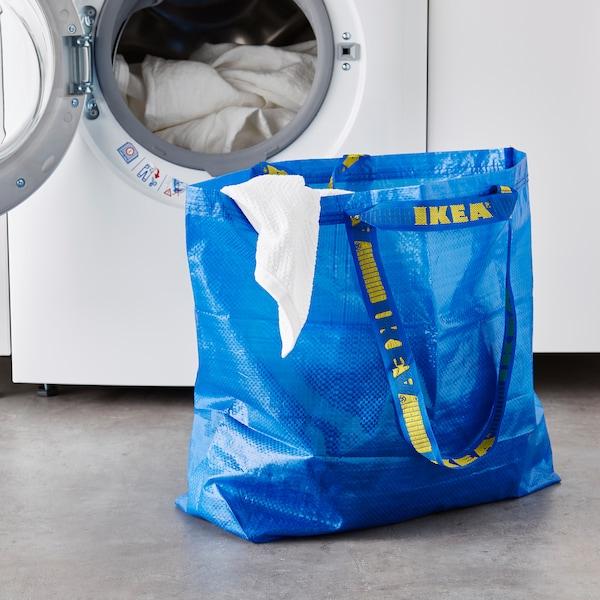 FRAKTA Carrier bag, medium, blue, 45x18x45 cm/36 l