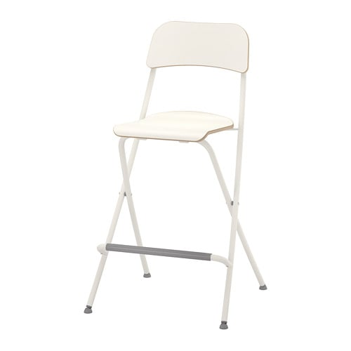 Cool Franklin Bar Stool With Backrest Foldable White White Gmtry Best Dining Table And Chair Ideas Images Gmtryco