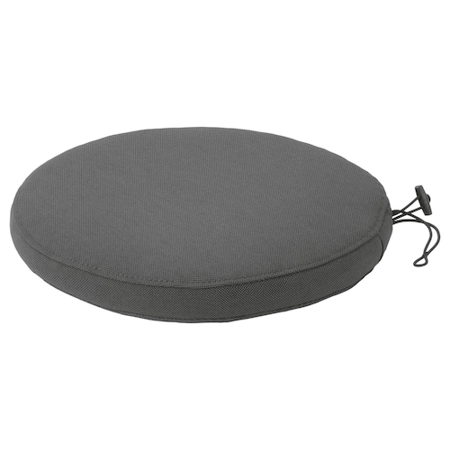FRÖSÖN/DUVHOLMEN chair cushion, outdoor dark grey 35 cm 4 cm