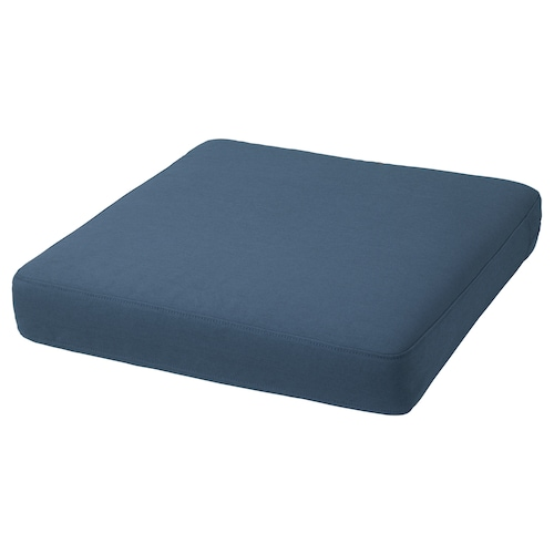 FRÖSÖN/DUVHOLMEN seat cushion, outdoor blue 62 cm 62 cm 12 cm