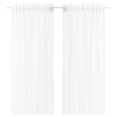 GJERTRUD Sheer curtains, 1 pair, white, 145x133 cm
