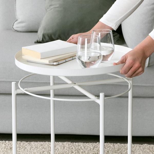 GLADOM Tray table, white, 45x53 cm