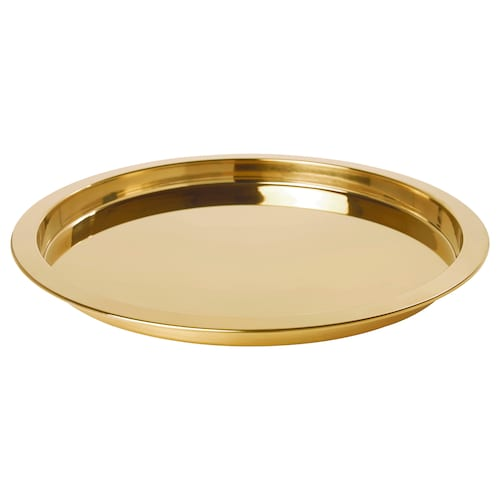 GLATTIS tray brass-colour 38 cm