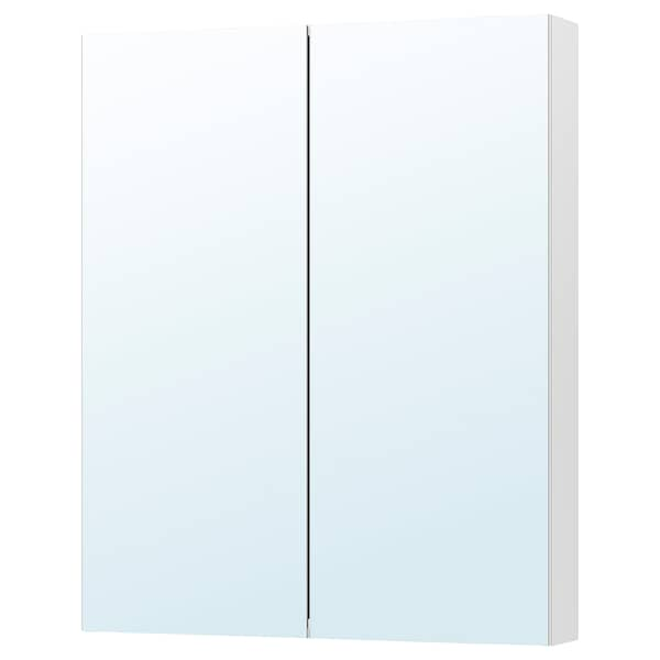GODMORGON Mirror cabinet with 2 doors, 80x14x96 cm